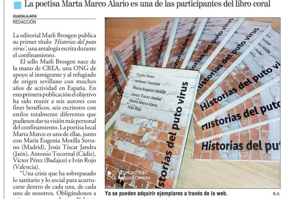 Nueva Alcarria: «Historias del puto virus: seis autores, seis visiones»