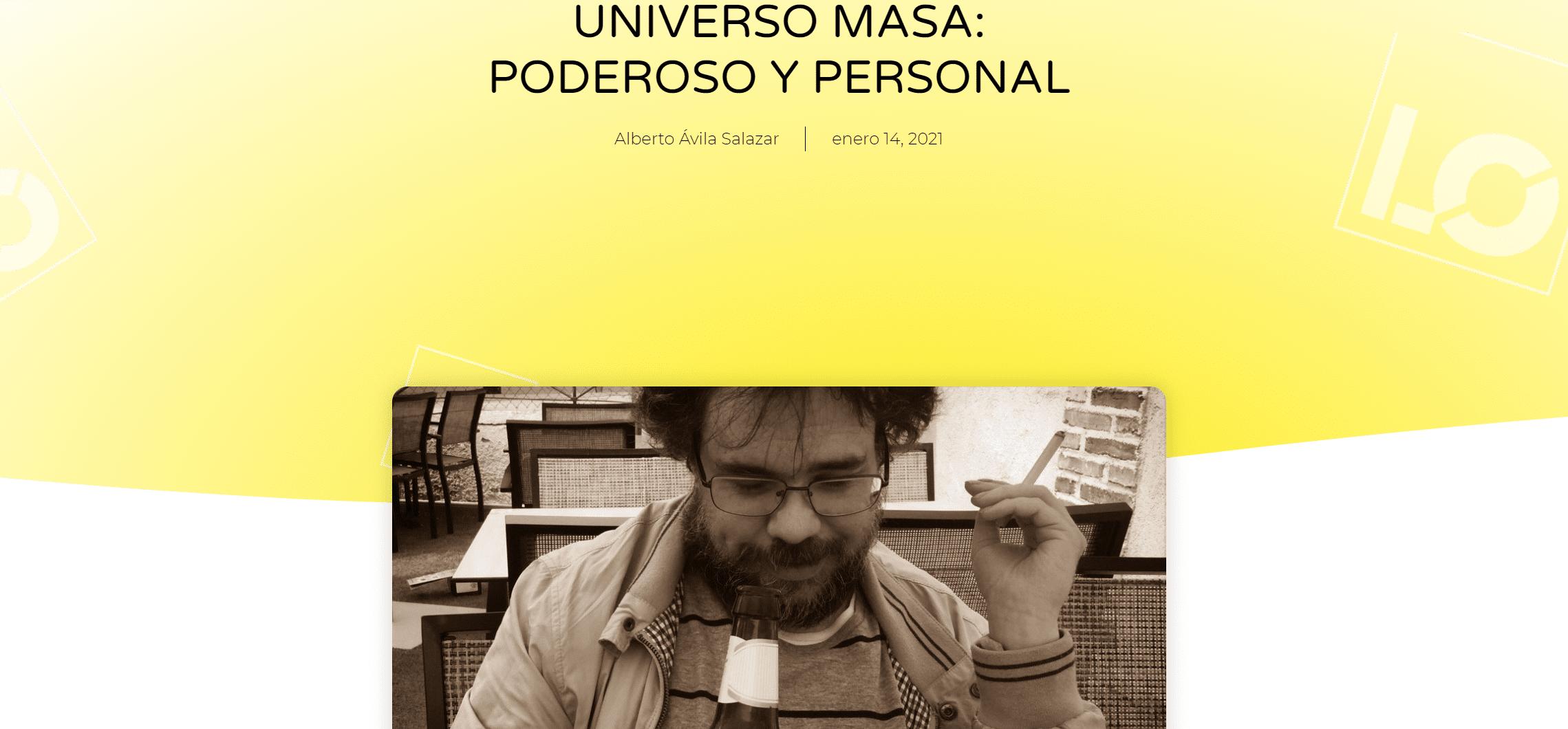 Literocio: «UNIVERSO MASA: PODEROSO Y PERSONAL»