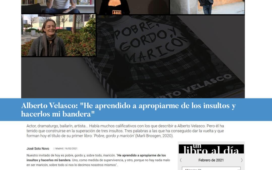 Alberto Velasco en ahoraQuéleo de la Sexta: «He aprendido a apropiarme de los insultos y hacerlos mi bandera»
